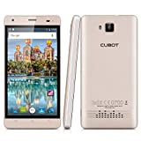 Cubot Echo 5.0 Zoll 3G-Smartphone Android 6.0 IPS HD Display Quad-Core 1.3GHz Dual SIM 2GB RAM + 16 GB ROM 13.0MP+5MP Dual Kamera Handy simlockfrei ohne vertrag 3000mAh Akku OTG Hotknot Wifi Smart Wake Gold