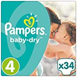 Pampers Baby Dry taille 4, pack de 1 (1 x 34 pièces)