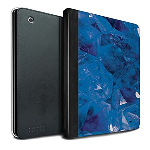 STUFF4 PU Leather Book/Cover Case for Apple iPad 2/3/4 tablets / September/Sapphire Design / Birth/Gemstone