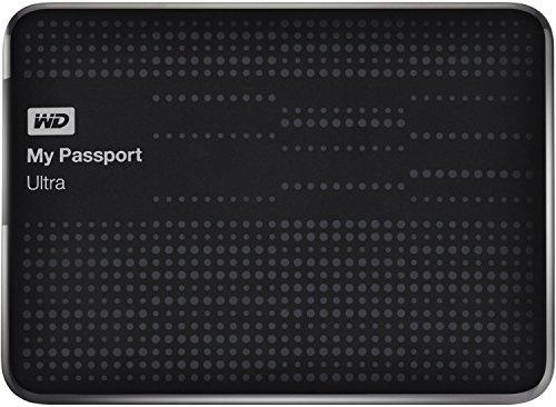 WD My Passport Ultra externe Festplatte 1,5TB (6,35 cm (2,5 Zoll), 5400rpm, 8 MB, SATA, USB 3.0) schwarz -