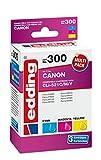 edding Tintenpatrone EDD-300 ersetzt Canon CLI-521C/M/Y Multipack 3 - Cyan, Magenta, Gelb - 3x 10,5ml