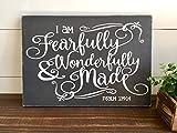 Fearfully and Wonderfully Made Psalm 13914 Kinderzimmerdeko Bibelvers christliches Wandbild Bauernhaus Deko Adoption Kinderzimmer Schlafzimmer Schild mit Sprüchen Home Decor Plaque