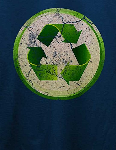 Recycle 02 Vintage T-Shirt Navy Blau