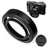 Fotover paraluce in metallo per Fujifilm X10/X20fotocamera con 52mm anello adattatore + centro pizzico copriobiettivo