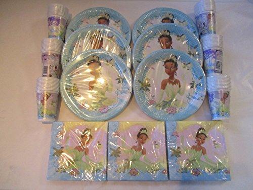 Disney Princess & The Frog Vaisselle de fête pour 60 personnes