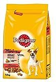 Pedigree Hundefutter Trockenfutter Adult Mini für kleine Hunde <10kg mit Rind und Gemüse, 6 Beutel (6 x 1,4kg)