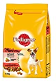Pedigree Adult Mini Hundefutter mit Rind und Gemüse, 6er Pack (6 x 1,4 kg)