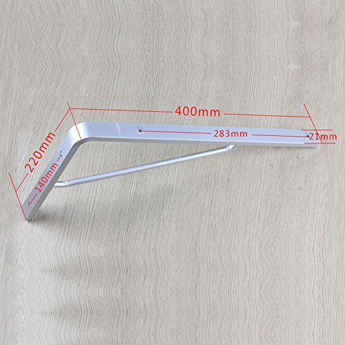 einstellbar Klapphalterung Vollaluminium Stützrahmen Plank Halterung Regale 90 Grad Winkel Frame Stativ Größe optional Kann gedreht werden ( größe : 400*220mm ) (Klapptisch Halterung)