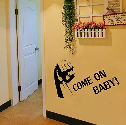 Zxfcczxf Geballte Faust Wand Kunst Wandbild Dekor Aufkleber Come On Baby Zitat Aufkleber Poster Wohnzimmer Schlafzimmer Dekoration Poster Home Kunst Aufkleber