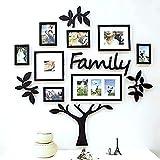 #6: TECHBITE Paper Plane Design Wooden Family Tree Set (Black D4, wooden_frame_family_01_C4) - Pack of 13 Piece
