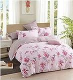 TIB® Glace Cotton AC Comforter Set- 1 AC Quilt, 1 Bedsheet with 2