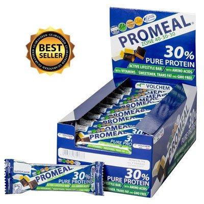Promeal zone 40-30-30 - volchem -barretta dieta a zona- 24 barrette da 50 g gusto - cocco