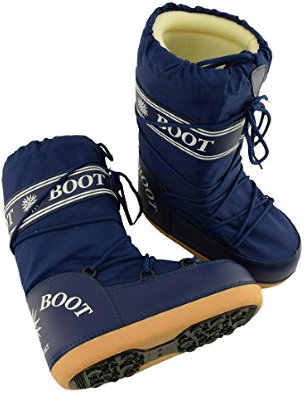MYSNOW Botas Para La Nieve Hombre Azul (Tamaños 41-42-43) La Nieve Caliente Cómoda Tapizada