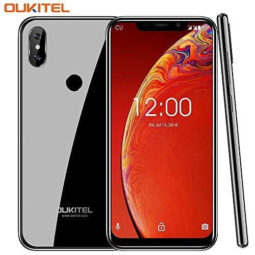 "OUKITEL C13 Pro Dual 4G Volte Smartphone Libre de 6.18\"" 19:9 Pantalla,Android 9.0,Doble vidrio curvado 2.5D,2GB RAM+16GB ROM,Cámara8MP+5MP,3000mAh, 0.83cm ultra delgado Teléfono Movil,Face ID (Negro)"