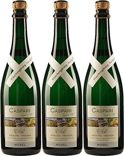 Caspari Riesling Winzer-Sekt 2014 Trocken (3 x 0.75 l)