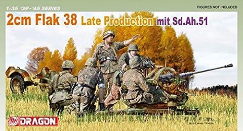 DRAGON D6546 FLAK 38 2 CM LATE PROD.MIT SD.AH51 KIT
