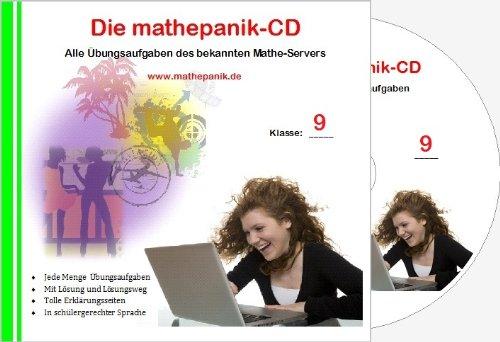 Die mathepanik-CD. Klasse 9: Mathematik-Lernsoftware. Alle Übungsaufgaben des bekannten Mathe-Servers