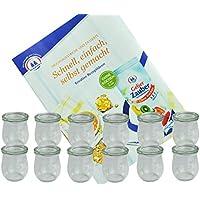MamboCat Juego de tarros de cristal, 220 ml, 12 unidades, incluye libro de recetas (idioma español no garantizado)
