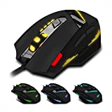 Maus, oyedens 7Schlüssel USB kabelgebunden Optische 1600DPI führt Optische Gaming Maus schnurgebunden für Laptop