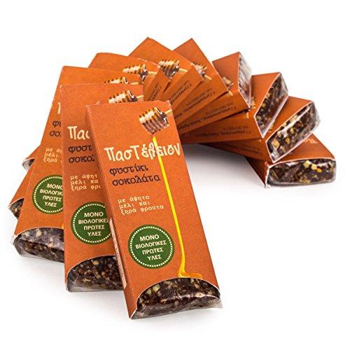 ohkost Erdnuß Schoko Riegel (10 * 45g) - Datteln - Honig - Powerbar - Energie Riegel - Glutenfrei - Ohne künstliche Zucker - Ohne Konservierungsstoffe - Bio Schokolade ()