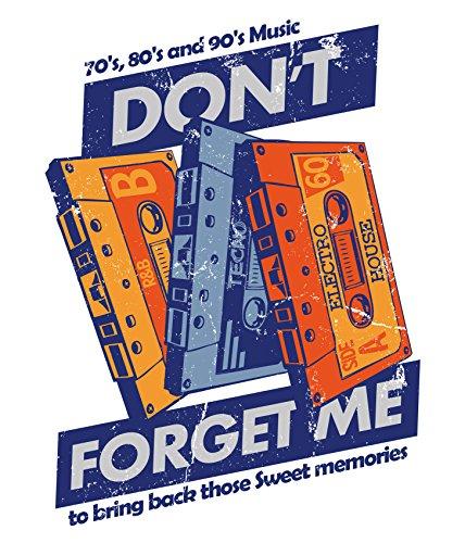 Bedrucktes Damen Musik Kassetten Tape T-Shirt Sweet Memories Weiß