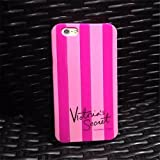 Carcasa de goma con rayas rosas de Victoria Secret para iPhone 6 y 6S