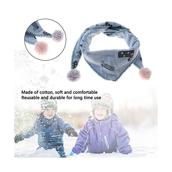Bufanda de algodón para niños, cómoda bufanda de cuello de triángulo para niños cómoda a prueba de viento transpirable… 3