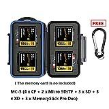 eFonto/JJC Speicherkarte Fall Wasserfestigkeit, der Halter für 4 CF +3 SD + 2 Micro SD/TF +3 XD +3 MSPD Karten Aufbewahrung