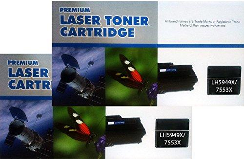 PACK 2 UNIDADES Toner compatible HP Q5949X Q7553X para HP Laserjet 1320 3390 3392 P2010 P2015 P2014 M2727nf CANON LBP3300 LBP3310 3370
