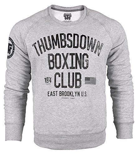 Thumbsdown Boxing Club 1974. Crewneck Sweatshirt. East Brooklyn U.S. Champs Camp. Thumbsdown Last Fight. Kampfsport Kleidung. Fightwear. Training. Casual. Gym. MMA Hoodie (Größe Medium)