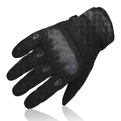 OMGAI Men's Full Finger Gloves for Motorcycle Climbing hiking Outdoor Sports, L