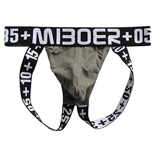 Männer Sexy Unterwäsche Baumwolle Jock Strap String Thong Grau EUR S/Größe M (Joe Unterwäsche Boxer)