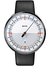 Botta Diseño de uno 24Plus Color Blanco de naranja reloj de pulsera–24H einzeiger Reloj, acero inoxidable, cristal de zafiro antirreflejos, correa de piel