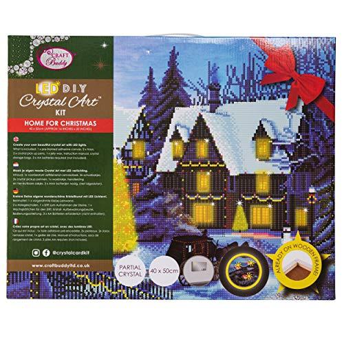 CRYSTAL ART CAK-XLED12 Zuhause für Weihnachten, Multicolor