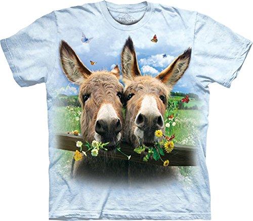 La montagna Kids Donkey Daisy t-shirt, unisex, Light Blue, (Daisy Rattle)