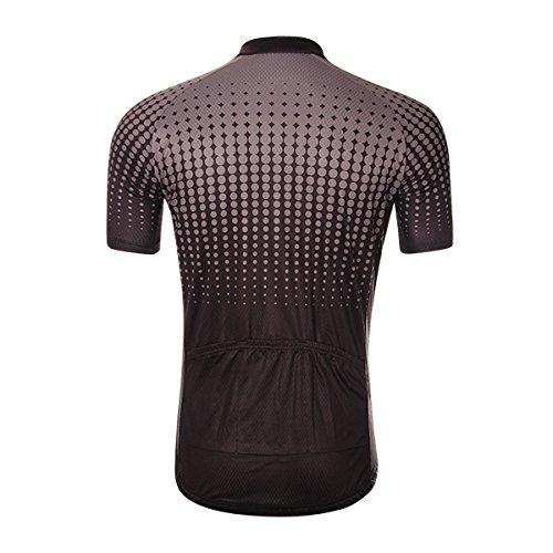 Unisex all'aperto ciclismo Jersey Bike breve MTB biciclette abbigliamento body traspirante traspirante estate-nero-XL