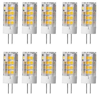 Aoxdi 10X G4 5W LED Light Bulbs, Warm White, LED 51 SMD 2835 Lamp, LED Super Bright Energy Saving Bulbs, AC 220-240V