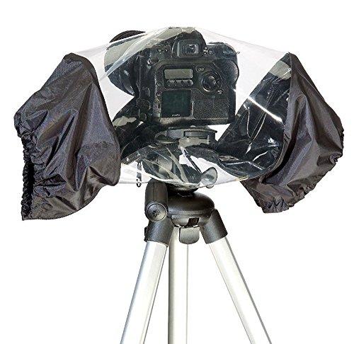 Phot-R P-CRC-1 Universelle wasserdichte Regen beständig Abdeckung mit Objektiv-Schutz für DSLR-Kamera schwarz (Kamera Minolta Professional)