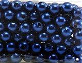Perlen Wachsperlen 8mm ca. 144 Stück BLAU Kunststoff Bastelperlen
