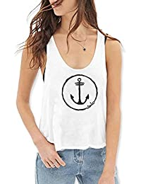 Camiseta de tirantes de Mujer Blanca Anchor Logo