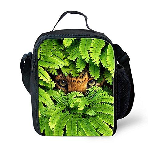 Thikin Forest Animal stampa pranzo borse termica isolante per scuola elementare da ragazzi Green3 Green2