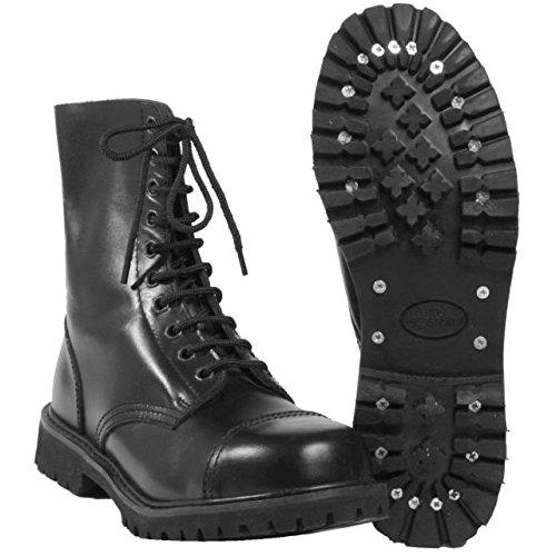 Mil-Tec , Bottes de combat homme - Noir - noir, 11 UK