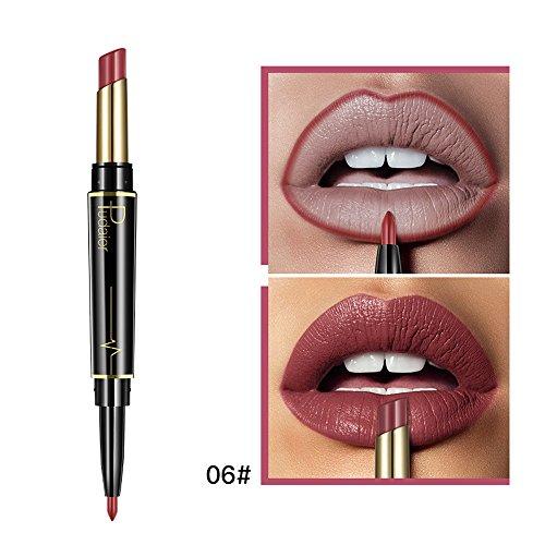 Gaddrt Dauerhafter Lipliner Lipliner-Stift mit Bleistift in 16 Farben Lippenkonturenstift Lippenstift (F)