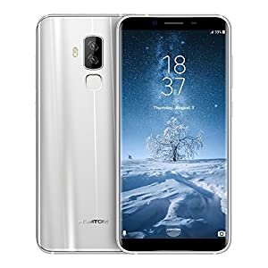 HOMTOM S8 5.7 Inch 4G Smartphone SIM-FREE MTK6750T Octa Core 4GB RAM+ 64GB ROM 16MP+5MP Dual Back Camera Smart Gesture Fingerprint for Android 7.0 (Silver)