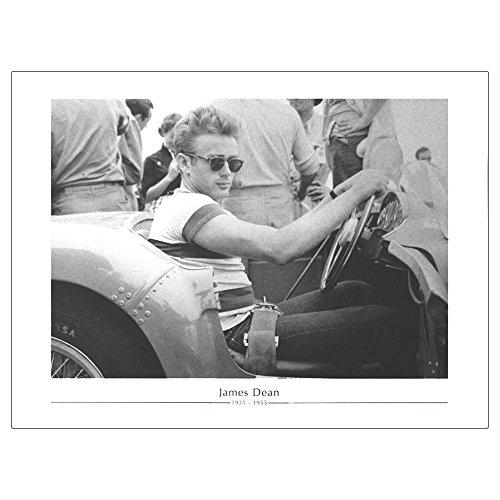 Pop-Art-Products James Dean Sat in Auto mit Sonnenbrille Fine Art Print (ungerahmt) (James-dean-auto)