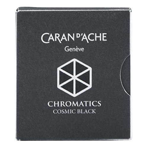 Pk/6 Caran d'Ache Chromatics Fountain Pen Ink Cartridges, Cosmic Black by Caran d'Ache