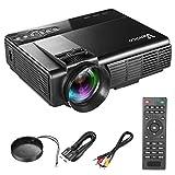 Proiettore Vemico 1080P Full HD Home Cinema TV 1800 Lumens Keystone Correzione PC / Smartphone / Tablet / Convertitore di gioco collegabile USB / scheda SD / HDMI / AV / supporto VGA