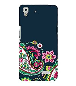 FUSON Seamless Black Floral Pattern 3D Hard Polycarbonate Designer Back Case Cover for Oppo R7 :: Oppo R7 Lite