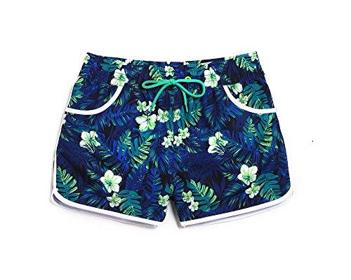 lantra-besa-womens-beach-shorts-boardshorts-mini-short-trunks-for-water-sports-in-summer-blue-leaves