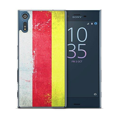 Südossetien Grunge - Handy Hülle für Sony Xperia XZ - Cover Hard Case Hard Schutz Schale Flagge Flag South Ossetia